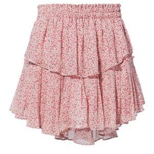 d40584adf LOVESHACKFANCY Skirts - LOVESHACKFANCY Tiered Ruffle Mini Skirt in Rouge